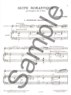 Robert Planel: Suite romantique No.1: Saxophone