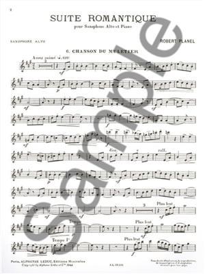 Robert Planel: Robert Planel: Suite Romantique 6: Saxophone