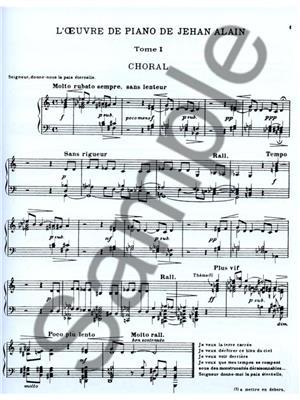 Jehan Alain: Jehan Ariste Alain: l'Oeuvre de Piano Vol.1: Piano or Keyboard