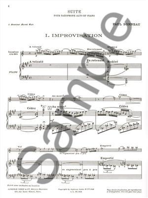 Paul Bonneau: Suite: Saxophone