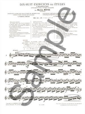 Marcel Moyse: Exercises(18) ( Berbiguer ): Flute