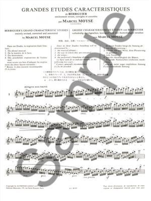 Marcel Moyse: Grandes Etudes Caracteristiques De Berbiguier: Flute