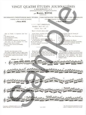 Marcel Moyse: 24 Etudes journalières de Soussmann Op.53: Flute