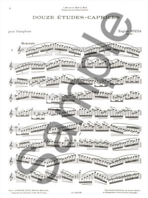 Eugène Bozza: 12 Etudes-Caprices pour Saxophone : Saxophone