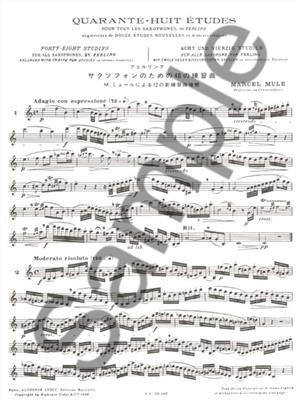 Marcel Mule: 48 Études (Ferling) : Saxophone