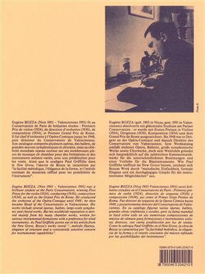 Eugène Bozza: Fantasy, for Bassoon and Piano: Bassoon
