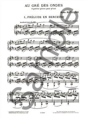 Henri Dutilleux: Au Gre Des Ondes: Piano or Keyboard