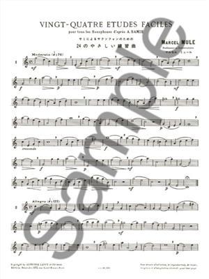Marcel Mule: Vingt-quatre études faciles: Saxophone