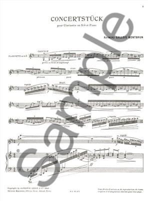 Raymond Gallois-Montbrun: Concertstück For Clarinet And Piano: Clarinet