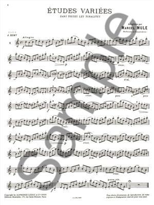 Marcel Mule: Etudes Variees: Saxophone