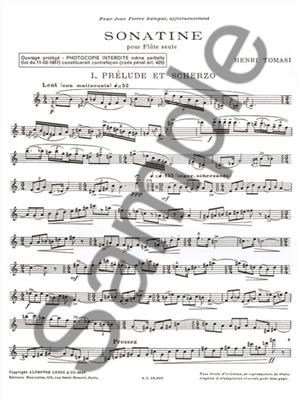Henri Tomasi: Sonatine (Flute): Flute