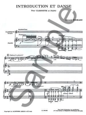 Henri Tomasi: Introduction Et Danse: Clarinet