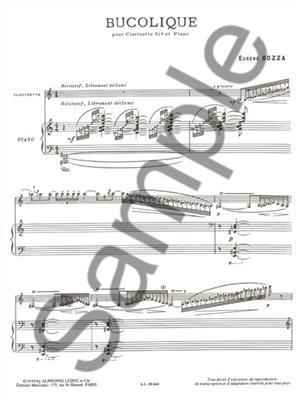 Eugène Bozza: Bucolique: Clarinet
