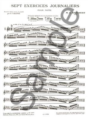Mathieu André Reichert: 7 Exercices Journaliers Op. 5: Flute