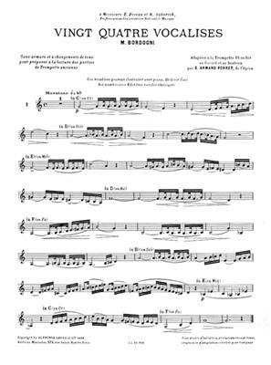 Marco Bordogni: Vingt-Quatre Vocalises: Arr. (G. Armand Porret): Trumpet
