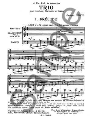 Georges Migot: Trio: Woodwind Ensemble
