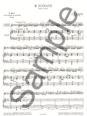 Johann Sebastian Bach: Sonata No.4: Alto Saxophone