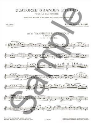 U. Delecluse: 14 Grandes Etudes: Clarinet