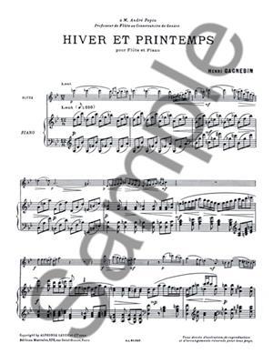 Gagnebin: Hiver Et Printemps: Flute