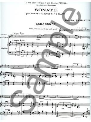 Emmanuel: Sonate: Trumpet, Cornet or Flugelhorn