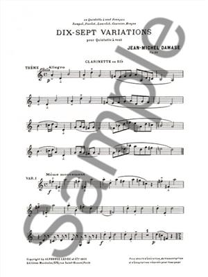 Jean-Michel Damase: 17 Variations: Wind Ensemble