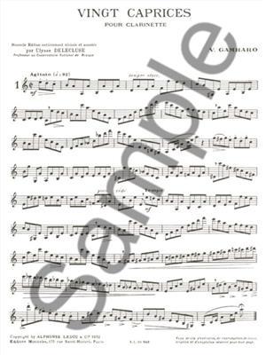 Gambaro: 20 Caprices: Clarinet