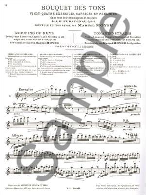 Marcel Moyse: Bouquet des tons op 125 pour flûte: Flute
