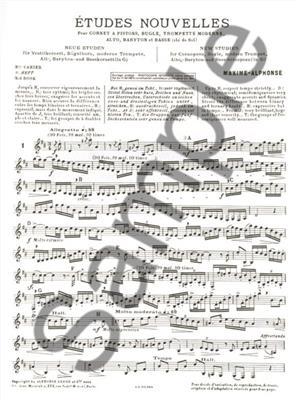 Maxime-Alphonse: Maxime-Alphonse: Etudes nouvelles Vol.3: Trumpet, Cornet or Flugelhorn