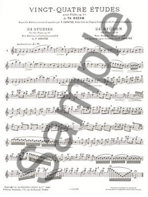 Boehm: 24 Etudes Op37: Flute