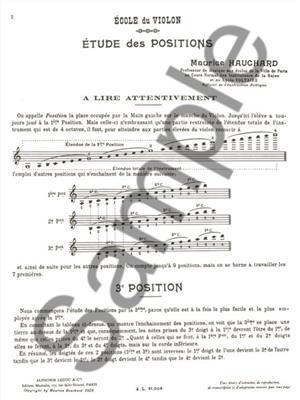 Etude Methodique Des Positions Vol 1