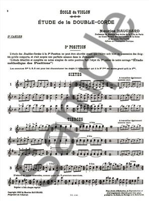 Maurice Hauchard: Methodic study of the double-string, 2nd: Violin