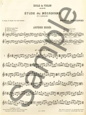 Maurice Hauchard: M. Hauchard: Exercices de Mecanisme Vol.2: Violin