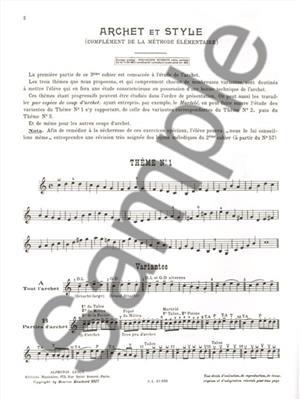 Maurice Hauchard: Archet Et Style: Violin