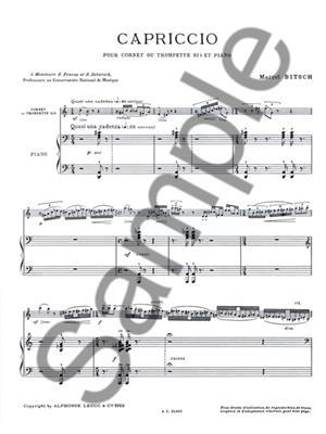 Marcel Bitsch: Capriccio: Trumpet, Cornet or Flugelhorn