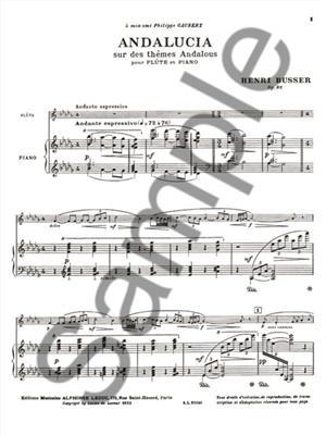 Henri Büsser: Andalucia: Flute