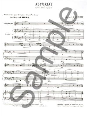 Henri Büsser: Asturias on Spanish tunes, Op. 84: Alto Saxophone