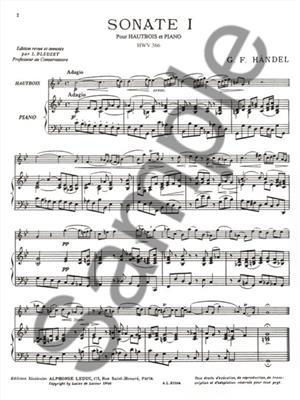 Georg Friedrich Händel: 2 Sonates: Oboe