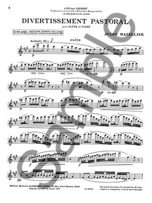 Jules Mazellier: Divertissement pastoral: Flute