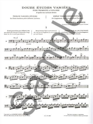 Masson: Etudes Variees(12): Trombone