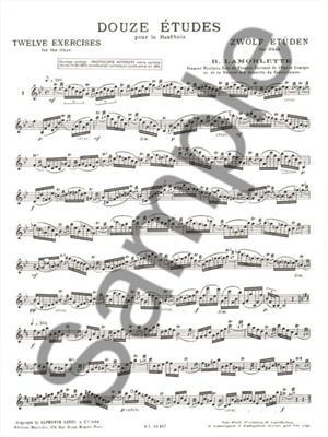 R. Lamorlette: 12 Etudes: Oboe