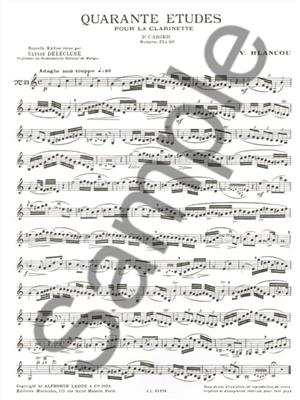 Blancou: 40 Etudes Vol. 2 - 21 A 40: Clarinet
