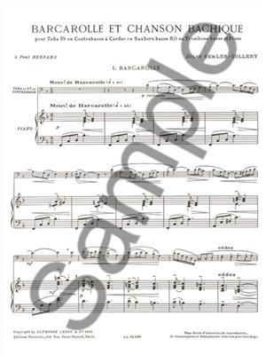 Nikolaus Selnecker: Barcarolle and Bacchanalian Song: Tuba