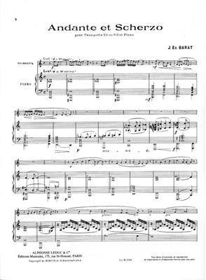 Joseph Edouard Barat: Andante & Scherzo: Trumpet