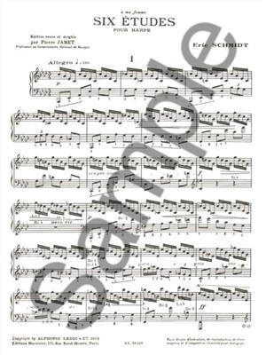 Eric Schmidt: Six Etudes: Harp