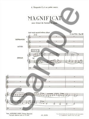 Laszlo Lajtha: Laszlo Lajtha: Magnificat Op.60: Women's Choir