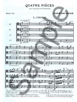 Jean Michel Defaye: 4 Pieces: Trombone Ensemble