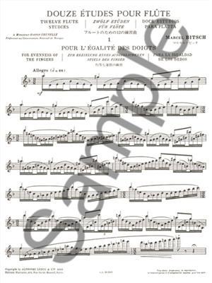 Marcel Bitsch: 12 Etudes: Flute