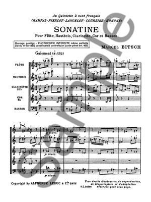 Marcel Bitsch: Marcel Bitsch: Sonatine: Wind Ensemble