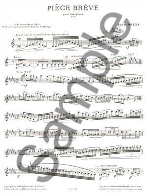 Eugène Bozza: Piece Breve: Saxophone