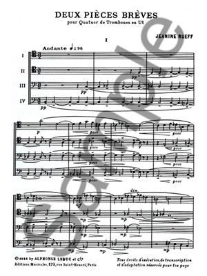 Jeanine Rueff: Deux Pièces Brèves: Trombone Ensemble